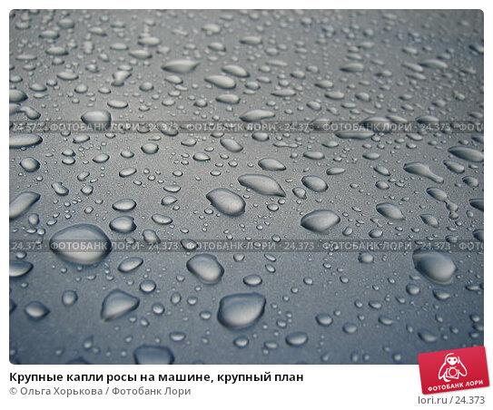 Крупные капли росы на машине, крупный план, фото № 24373, снято 14 июля 2006 г. (c) Ольга Хорькова / Фотобанк Лори
