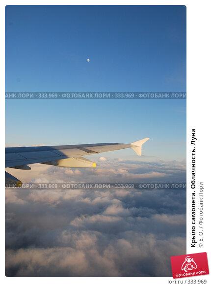 Крыло самолета. Облачность. Луна, фото № 333969, снято 14 июня 2008 г. (c) Екатерина Овсянникова / Фотобанк Лори