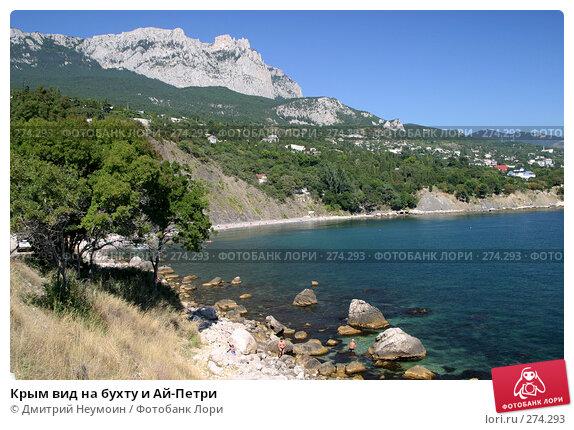 Крым вид на бухту и Ай-Петри, эксклюзивное фото № 274293, снято 16 сентября 2004 г. (c) Дмитрий Неумоин / Фотобанк Лори