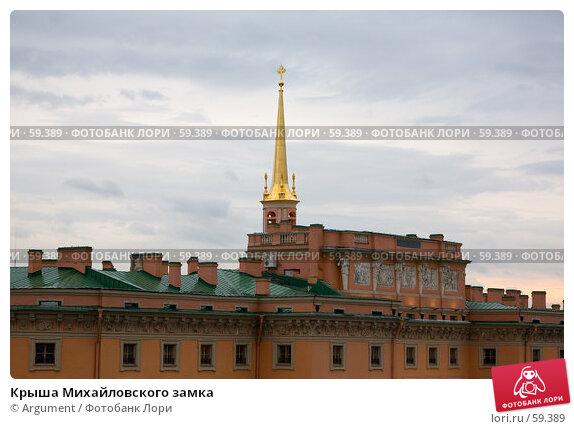 Крыша Михайловского замка, фото № 59389, снято 9 мая 2007 г. (c) Argument / Фотобанк Лори