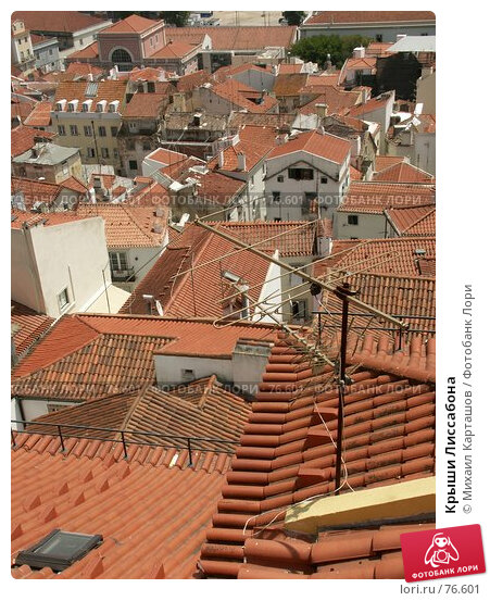 Крыши Лиссабона, эксклюзивное фото № 76601, снято 21 февраля 2017 г. (c) Михаил Карташов / Фотобанк Лори