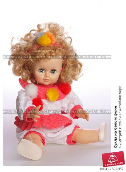 Кукла на белом фоне, эксклюзивное фото № 324437, снято 9 июня 2008 г. (c) Дмитрий Неумоин / Фотобанк Лори
