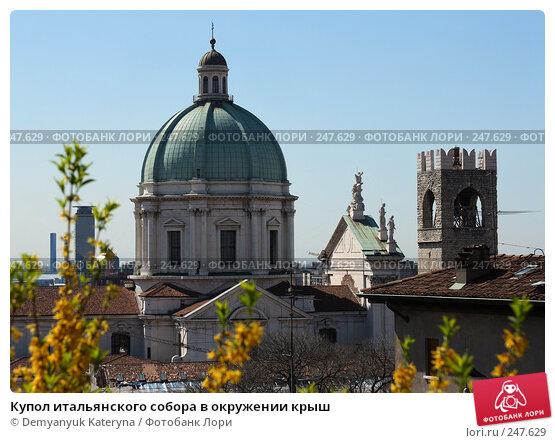 Купол итальянского собора в окружении крыш, фото № 247629, снято 4 апреля 2008 г. (c) Demyanyuk Kateryna / Фотобанк Лори