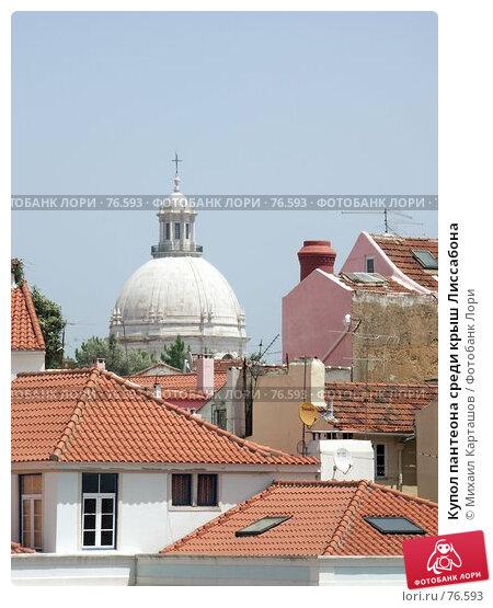 Купол пантеона среди крыш Лиссабона, эксклюзивное фото № 76593, снято 23 апреля 2017 г. (c) Михаил Карташов / Фотобанк Лори