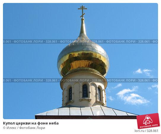 Купить «Купол церкви на фоне неба», фото № 328061, снято 11 июня 2008 г. (c) Морковкин Терентий / Фотобанк Лори