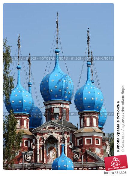 Купола храма в Устюжне, фото № 81305, снято 23 августа 2007 г. (c) Ханыкова Людмила / Фотобанк Лори