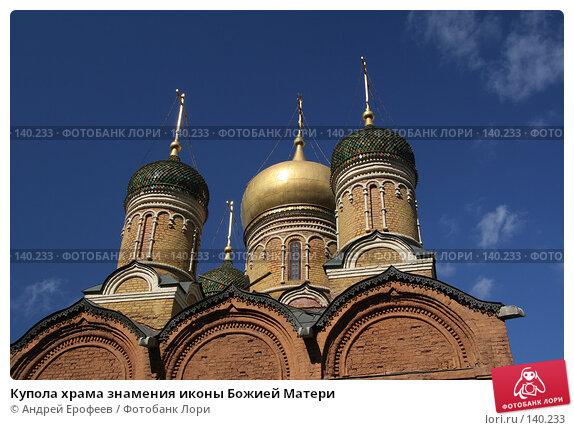 Купола храма знамения иконы Божией Матери, фото № 140233, снято 12 апреля 2006 г. (c) Андрей Ерофеев / Фотобанк Лори