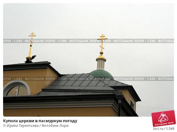 Купить «Купола церкви в пасмурную погоду», эксклюзивное фото № 1549, снято 14 октября 2005 г. (c) Ирина Терентьева / Фотобанк Лори