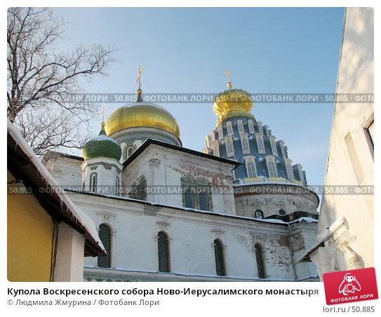 Купола Воскресенского собора Ново-Иерусалимского монастыря, фото № 50885, снято 5 января 2006 г. (c) Людмила Жмурина / Фотобанк Лори