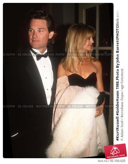 #KurtRussell #GoldieHawn 1988.Photo By John BarrettPHOTOlink.net.. Редакционное фото, фотограф Adam Scull / age Fotostock / Фотобанк Лори