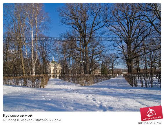 Кусково зимой, эксклюзивное фото № 217737, снято 27 января 2008 г. (c) Павел Широков / Фотобанк Лори