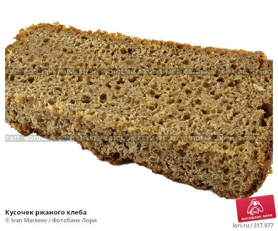 Кусочек ржаного хлеба, фото № 317977, снято 10 июня 2008 г. (c) Василий Каргандюм / Фотобанк Лори