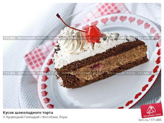 Кусок шоколадного торта, фото № 171885, снято 3 декабря 2005 г. (c) Кравецкий Геннадий / Фотобанк Лори