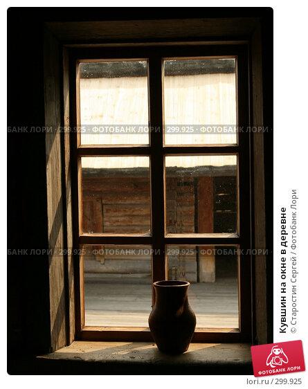 Кувшин на окне в деревне, фото № 299925, снято 23 апреля 2008 г. (c) Старостин Сергей / Фотобанк Лори