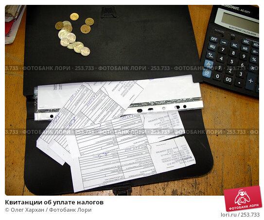 Квитанции об уплате налогов, эксклюзивное фото № 253733, снято 4 апреля 2008 г. (c) Олег Хархан / Фотобанк Лори