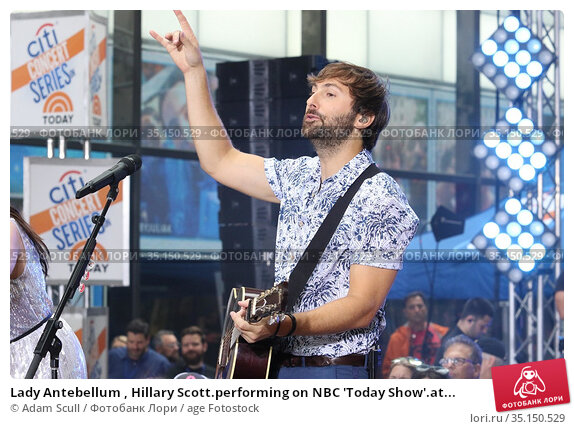 Lady Antebellum , Hillary Scott.performing on NBC 'Today Show'.at... (2018 год). Редакционное фото, фотограф Adam Scull / age Fotostock / Фотобанк Лори