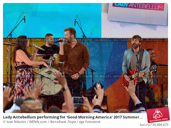 Lady Antebellum performing for 'Good Morning America' 2017 Summer... Редакционное фото, фотограф Ivan Nikolov / WENN.com / age Fotostock / Фотобанк Лори