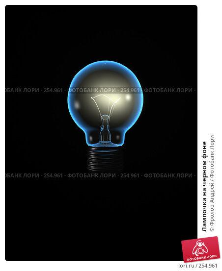 Купить «Лампочка на черном фоне», фото № 254961, снято 24 апреля 2018 г. (c) Фролов Андрей / Фотобанк Лори