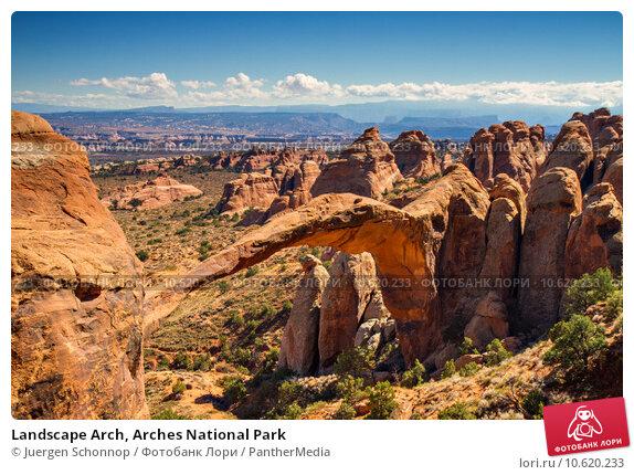 Landscape Arch, Arches National Park. Стоковое фото, фотограф Juergen Schonnop / PantherMedia / Фотобанк Лори