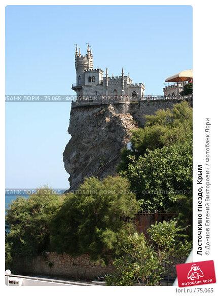 Купить «Ласточкино гнездо, Крым», фото № 75065, снято 8 августа 2007 г. (c) Донцов Евгений Викторович / Фотобанк Лори