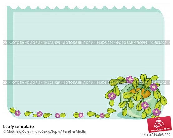 Leafy template. Стоковая иллюстрация, иллюстратор Matthew Cole / PantherMedia / Фотобанк Лори