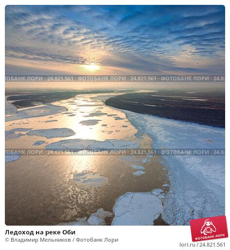 Купить «Ледоход на реке Оби», фото № 24821561, снято 6 ноября 2012 г. (c) Владимир Мельников / Фотобанк Лори