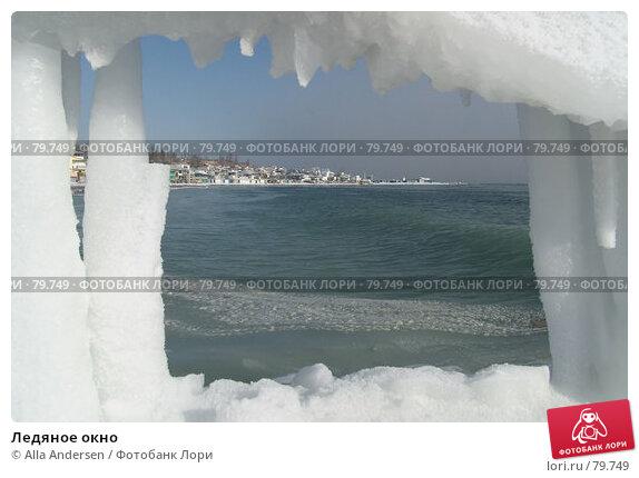 Ледяное окно, фото № 79749, снято 25 января 2006 г. (c) Alla Andersen / Фотобанк Лори