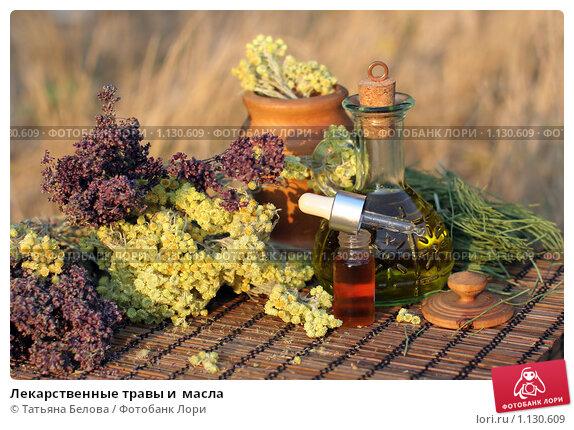 Купить «Лекарственные травы и  масла», фото № 1130609, снято 10 сентября 2009 г. (c) Татьяна Белова / Фотобанк Лори