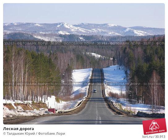 Купить «Лесная дорога», фото № 30913, снято 30 марта 2007 г. (c) Талдыкин Юрий / Фотобанк Лори