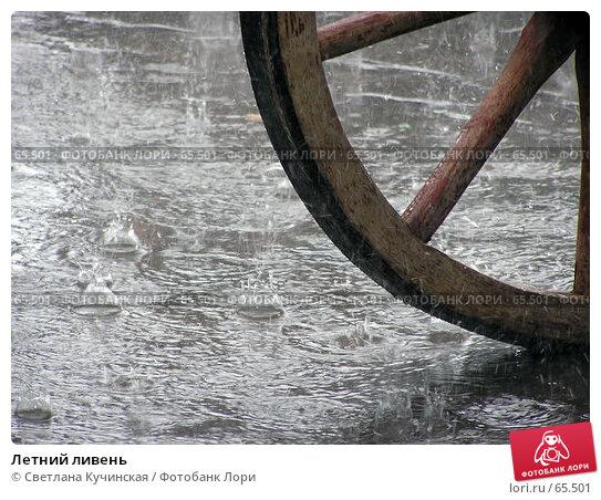 Летний ливень, фото № 65501, снято 6 июля 2007 г. (c) Светлана Кучинская / Фотобанк Лори