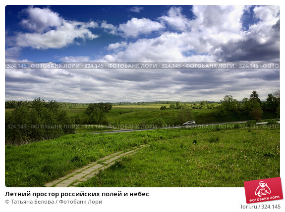 Летний простор российских полей и небес, фото № 324145, снято 1 июня 2008 г. (c) Татьяна Белова / Фотобанк Лори