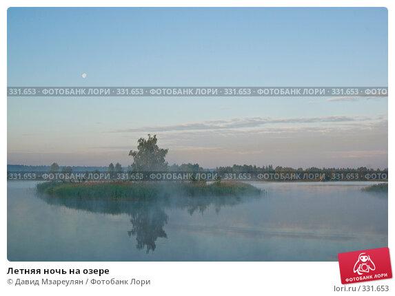 Летняя ночь на озере, фото № 331653, снято 22 июня 2008 г. (c) Давид Мзареулян / Фотобанк Лори