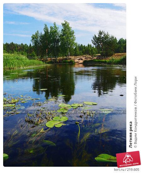 Летняя река, фото № 219605, снято 24 июля 2017 г. (c) Вадим Кондратенков / Фотобанк Лори