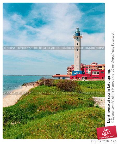 Lighthouse at sea in late spring. Стоковое фото, фотограф Zoonar.com/Vladimir Nenov / easy Fotostock / Фотобанк Лори