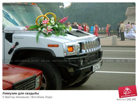 Купить «Лимузин для свадьбы», эксклюзивное фото № 245345, снято 17 марта 2018 г. (c) Виктор Зиновьев / Фотобанк Лори