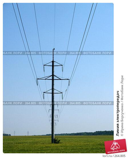 Купить «Линия электропередач», фото № 264805, снято 17 июня 2007 г. (c) Ирина Борсученко / Фотобанк Лори