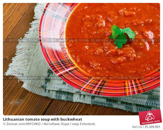 Lithuanian tomato soup with buckwheat. Стоковое фото, фотограф Zoonar.com/MYCHKO / easy Fotostock / Фотобанк Лори