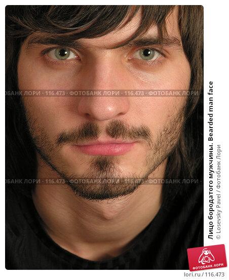 Лицо бородатого мужчины. Bearded man face, фото № 116473, снято 3 декабря 2005 г. (c) Losevsky Pavel / Фотобанк Лори