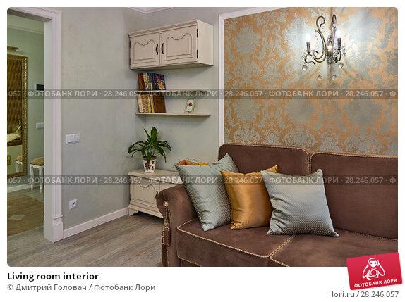 Купить «Living room interior», фото № 28246057, снято 9 февраля 2018 г. (c) Дмитрий Головач / Фотобанк Лори