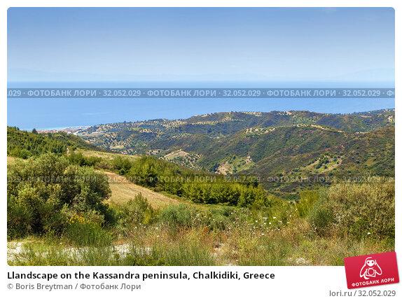 Llandscape on the Kassandra peninsula, Chalkidiki, Greece (2019 год). Стоковое фото, фотограф Boris Breytman / Фотобанк Лори