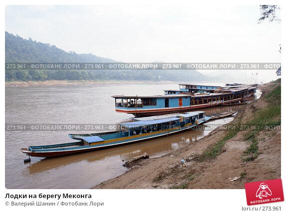 Лодки на берегу Меконга, фото № 273961, снято 6 декабря 2007 г. (c) Валерий Шанин / Фотобанк Лори