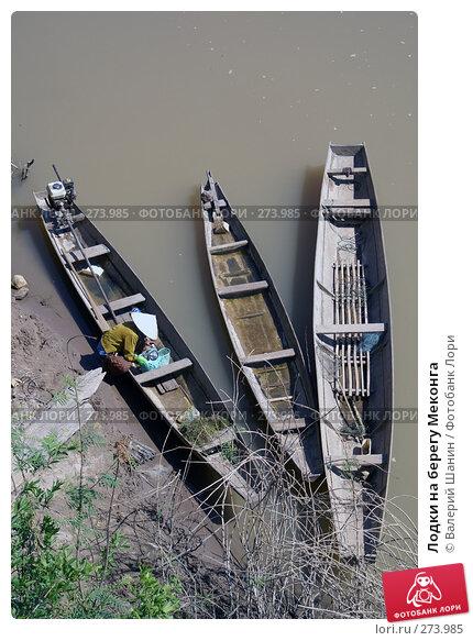 Купить «Лодки на берегу Меконга», фото № 273985, снято 10 декабря 2007 г. (c) Валерий Шанин / Фотобанк Лори