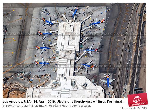 Los Angeles, USA - 14. April 2019: Übersicht Southwest Airlines Terminal... Стоковое фото, фотограф Zoonar.com/Markus Mainka / age Fotostock / Фотобанк Лори