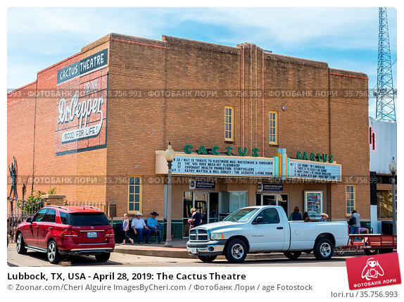 Lubbock, TX, USA - April 28, 2019: The Cactus Theatre. Стоковое фото, фотограф Zoonar.com/Cheri Alguire ImagesByCheri.com / age Fotostock / Фотобанк Лори