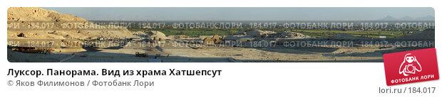 Купить «Луксор. Панорама. Вид из храма Хатшепсут», фото № 184017, снято 27 апреля 2018 г. (c) Яков Филимонов / Фотобанк Лори