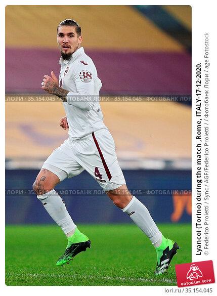 Lyancoi (Torino) during the match ,Rome, ITALY-17-12-2020. Редакционное фото, фотограф Federico Proietti / Sync / AGF/Federico Proietti / / age Fotostock / Фотобанк Лори