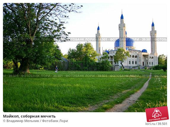 Купить «Майкоп, соборная мечеть», фото № 39501, снято 11 мая 2005 г. (c) Владимир Мельник / Фотобанк Лори