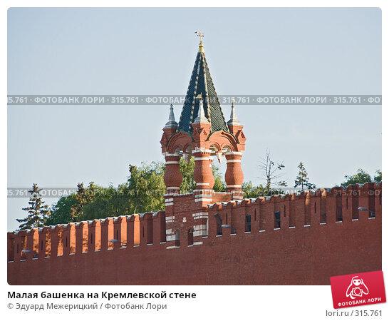 Малая башенка на Кремлевской стене, фото № 315761, снято 5 июня 2008 г. (c) Эдуард Межерицкий / Фотобанк Лори