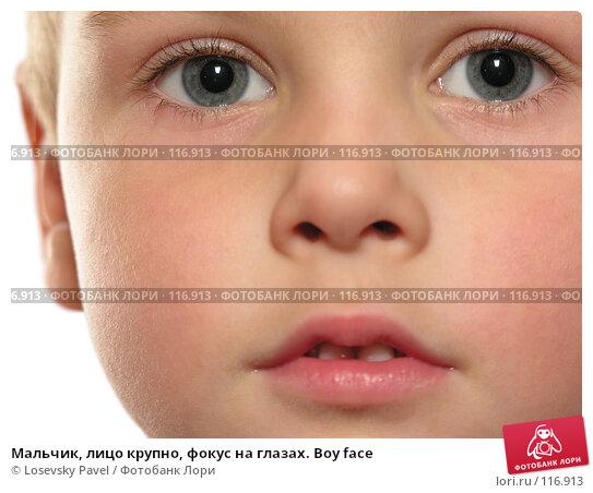 Мальчик, лицо крупно, фокус на глазах. Boy face, фото № 116913, снято 20 февраля 2006 г. (c) Losevsky Pavel / Фотобанк Лори