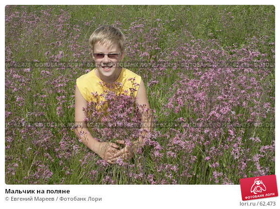 Мальчик на поляне, фото № 62473, снято 12 июня 2007 г. (c) Евгений Мареев / Фотобанк Лори